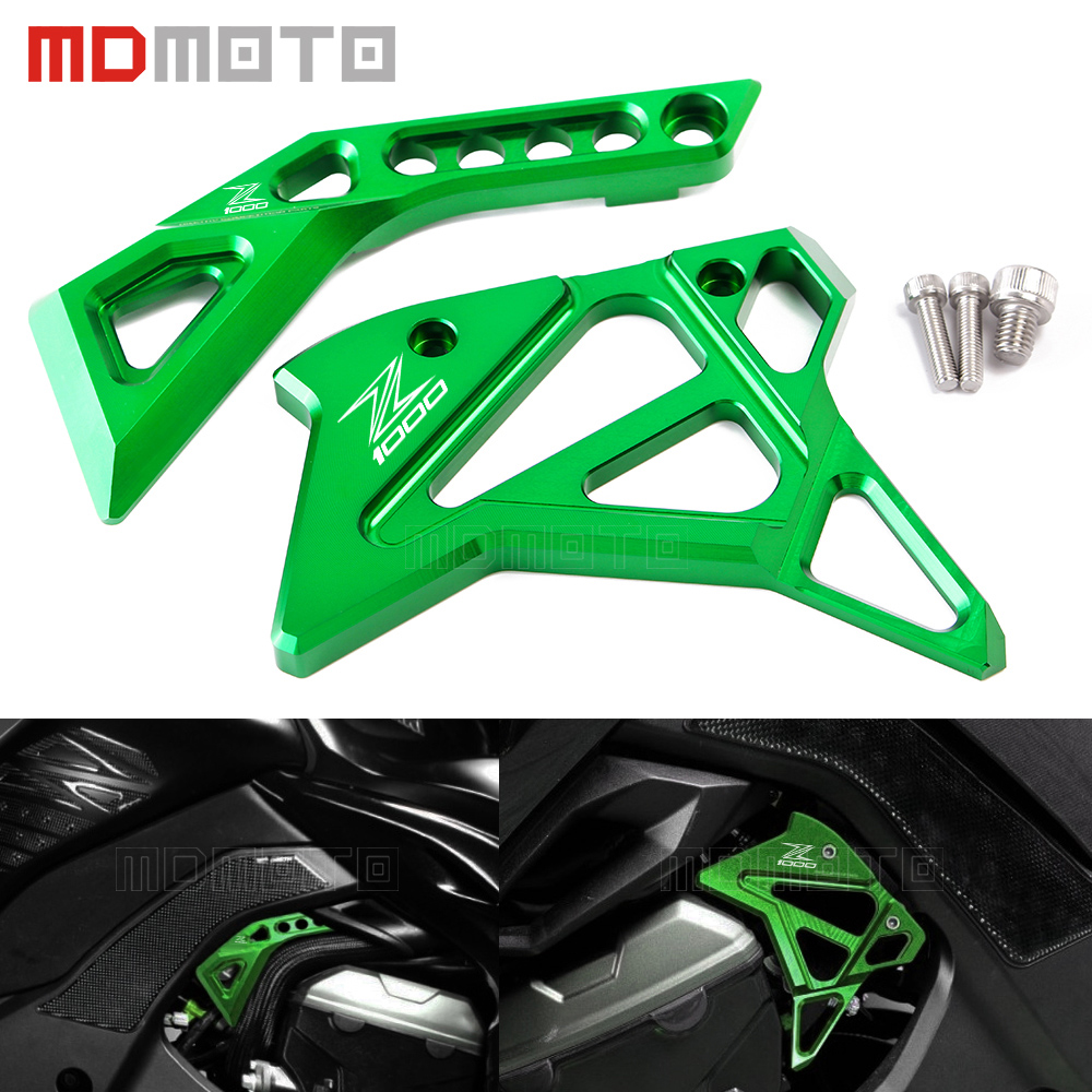For Kawasaki Z1000 Z 1000 2014 2015 2016 2017 Motorcycle Accessories CNC Aluminum Fuel Injection Cover cnc aluminum frame fuel injection injector cover protector guard for kawasaki z1000 2014 2016 14 15 16