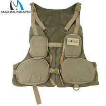 Maximumcatch New Fishing Vest Fishing Pack Outdoor Handy Adjustable Fly Vest