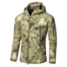 Для мужчин тактический большой Размеры 5XL Soft Shell Акула кожи Водонепроницаемый ветрозащитная куртка Открытый Охота Кемпинг куртка для альпинизма армии одежда