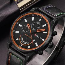 Datas de moedas Top Marca Mens Sports Relógios Moda Casual Relógio de Quartzo Das Mulheres Dos Homens de Couro Relógio de Pulso Militar Relógio Masculino Relogio