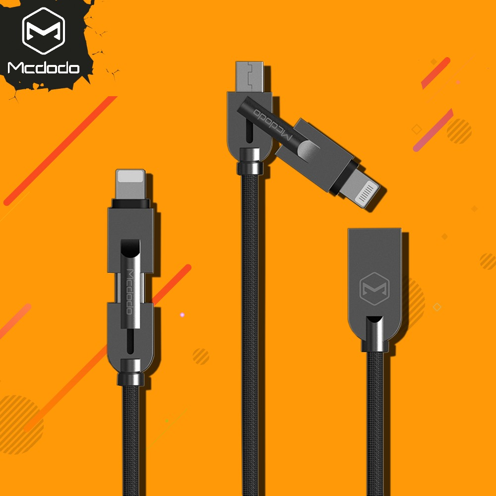 Mcdodo 2 in 1 Micro USB+For lightning Cable For iPhone X 8 7 Plus Fast Charging Cable For Samsung S8 Xiaomi Huawei Data Cable