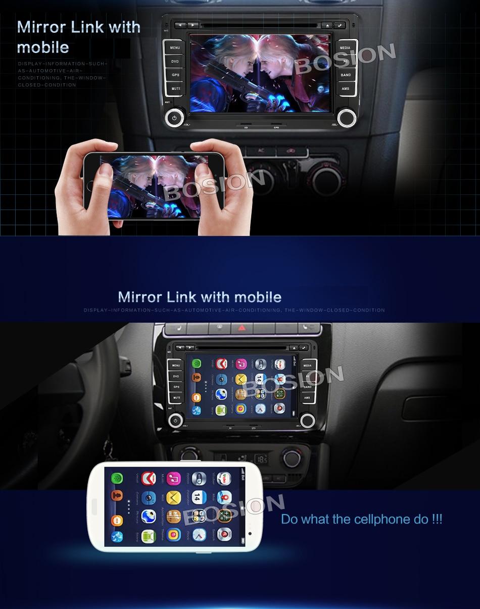 Android 7.1 avtomobil dvd vw gps naviqasiya Wifi + Bluetooth + Radio - Avtomobil elektronikası - Fotoqrafiya 4