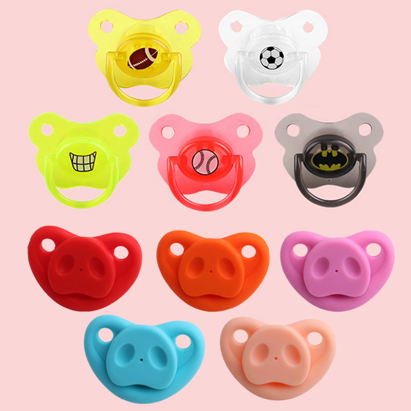 Silicone Funny Nipple Dummy Pacifier Baby Soother Toddler Cute Pig Nose Nipples Teether Baby Pacifier Care