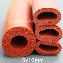 5x10 мм пены силиконовый шланг вспененного трубы губка корпуса красный пенясь силиконовая трубка высокая термостойкость трубки