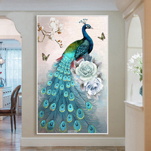 Diamond Embroidered New Style Drawing of Peacock