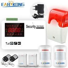 Gsm alarm system security home Support SIM Card wireless 433MHz open door detector motion sensor doorbell