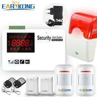 Gsm Alarm System Security Home Support SIM Card Wireless 433MHz Open Door Detector Motion Sensor Doorbell