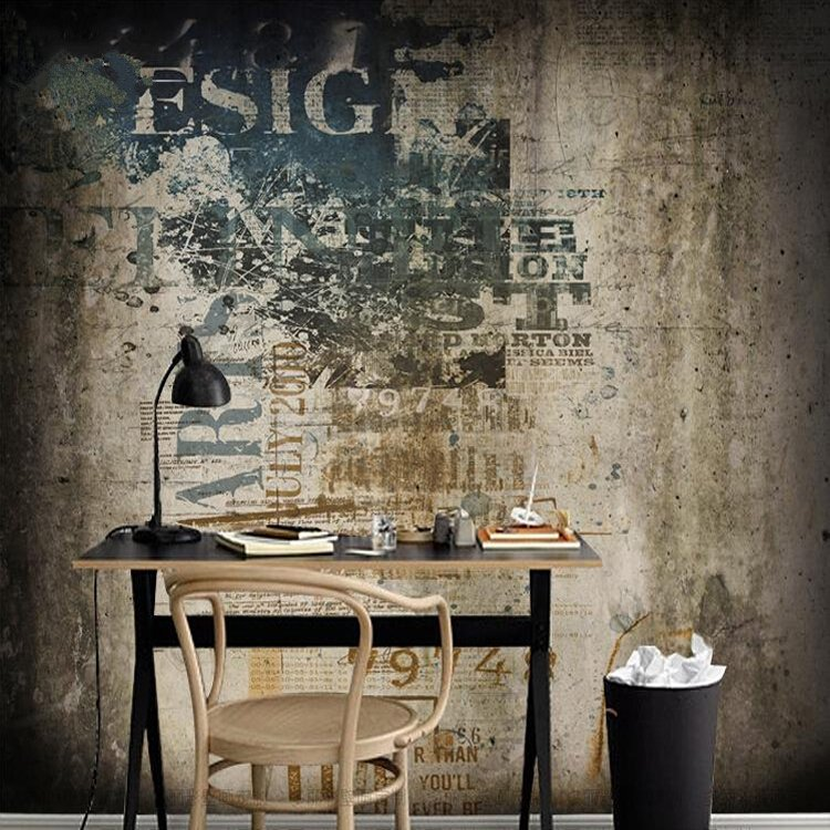 Bar Wallpaper: Aliexpress.com : Buy 3d Nostalgic Cement Wall Vintage