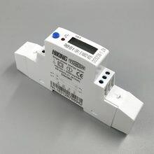 5 (45) um medidor máximo da energia da hora do watt do kwh do trilho do ruído da fase monofásica atual da tensão de 45a 220 v 230 v 50 hz 60 hz com rs485 MODBUS-RUT