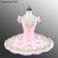 Балетки розовые пачки Производительность танцевальная одежда Для женщин профессиональный классический блин пачки жизни театральной Фея т