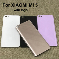 Original New 3D Glass Rear Housing Cover For XIAOMI MI 5 Back Door Replacement Battery Case
