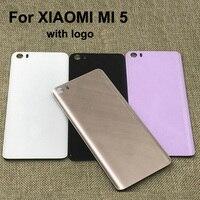 Original New 3D Glass Rear Housing Cover For XIAOMI MI 5 Back Door Replacement Battery Case