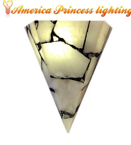 E27 parquet marbre applique couloir balcon chambre lampe de chevet, taille: 35*28*12 CM, AC110-240V.