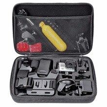 Действий камеры S M Большой Размер сумка для Gopro Hero 5 4 SJCAM аксессуары Чехол для Go pro SJCAM SJ5000 SJ4000 камера спорта 24