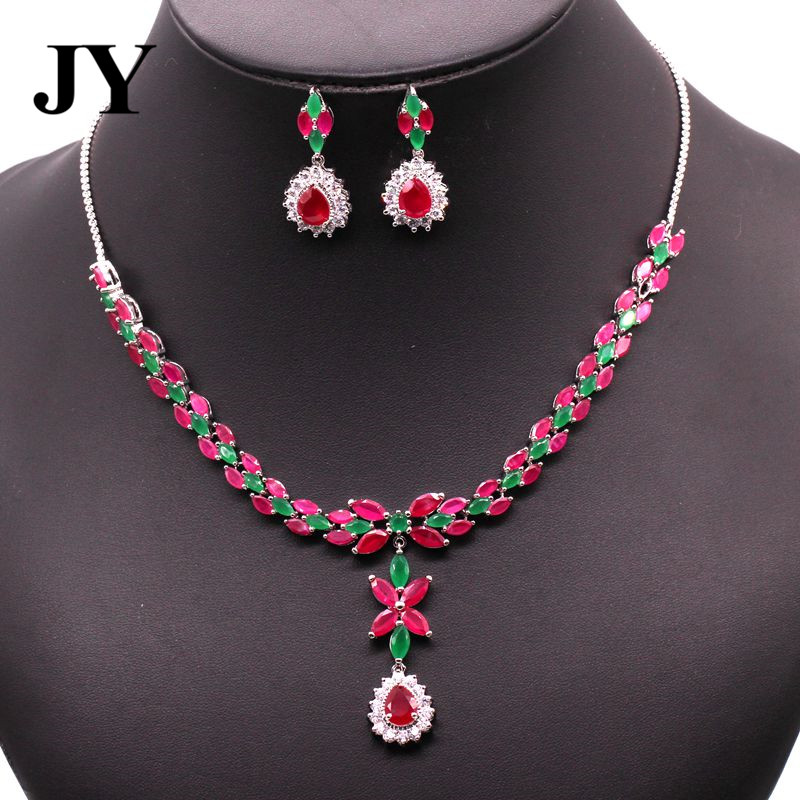 JY New Fashion Elegant Necklace Party Earring Woman Best Love Gift For Friend Charm Vintage Jewelry Set China Style Design