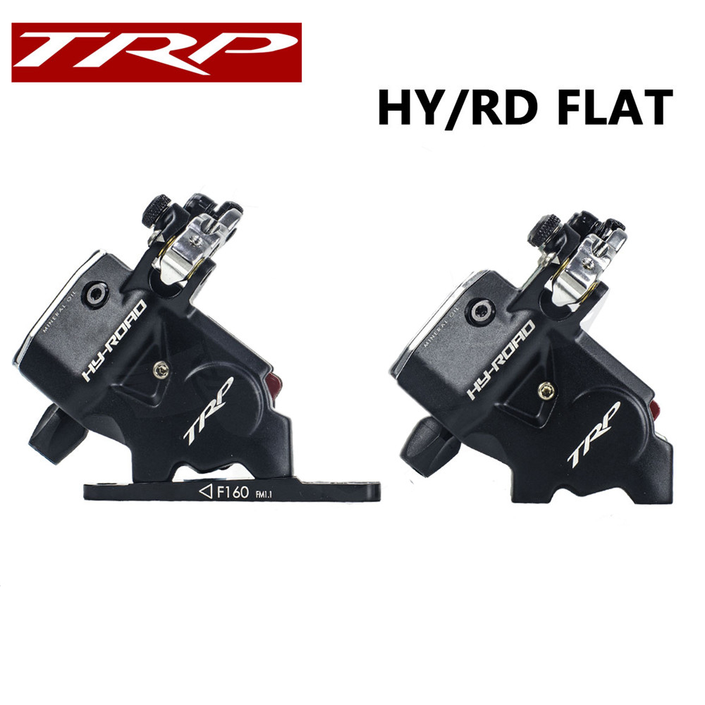 TRP HY RD Flat Mount Cable Actuated Hydraulic Disc Brake Front 160mm Rear 140mm w or