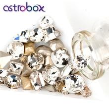 Crystal Strass Charm Gems Nail Rhinestones-Point 50pcs Nail-Art-Decorations Glass Back