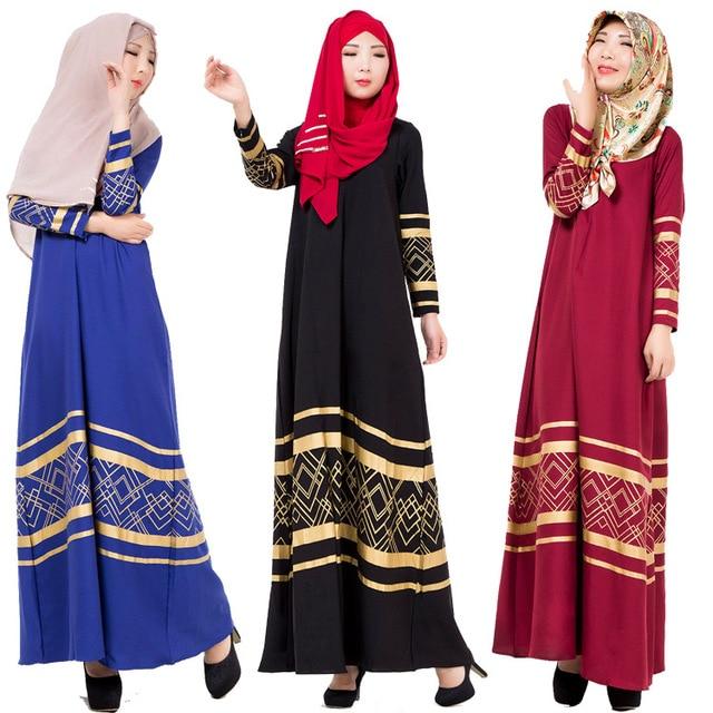3 Warna Womens Kaftan Abaya Pakaian Islamic Untuk Wanita Jubah