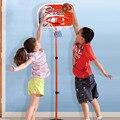 80-165 см Дети Баскетбол Спорт Портативный Щит Баскетбол Стенд 3-раздел Регулируемая По Высоте с Надувное
