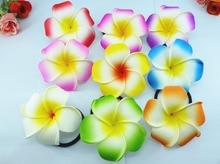 20 New assorted color Foam Hawaiian Plumeria flower Frangipani Flower bridal hair bands  elastic 6cm