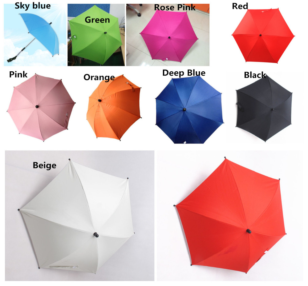 Umbrella for all baby stroller  baby stroller accessory water proof 12 colors umbrella