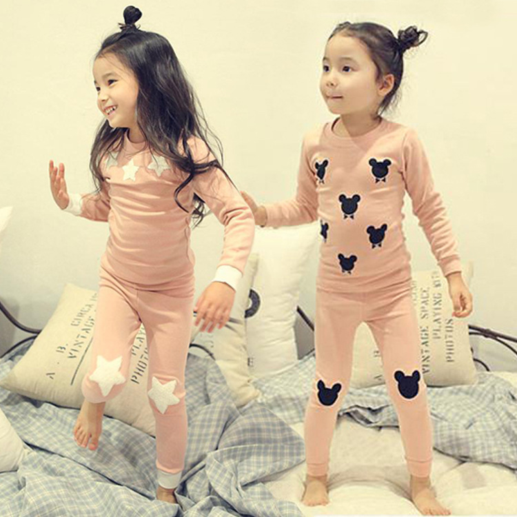 Children Clothing Sets Kids Pajamas Sets Sleepwear Pyjama Cotton Infant Kids Clothes For Girls Cartoon Sleepwear Pyjamas cartoon character pijamas pyjamas kids pajamas for boys girls children clothing set sleepwear factory price 2015 newest cheap