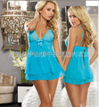 Sexy Lingerie para mulheres Sexy Mini vestido + g-string Sleepwear conjunto de roupa interior camisola M ~ XXL