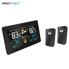 Protmex PT3378 Wireless Weather Station, Forecast Station with Alert/Temperature/Humidity/Barometer, (With 2 Outdoor Sensors)