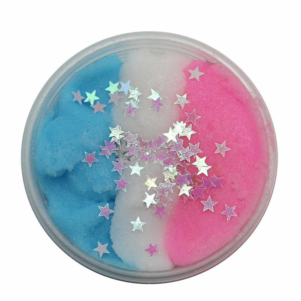 60ml DIY Clear Slime Toys Fluffy Floam Slime Beautiful Fruits Cloud Slime Putty Scented Stress Kids Clay Toy Dropshipping