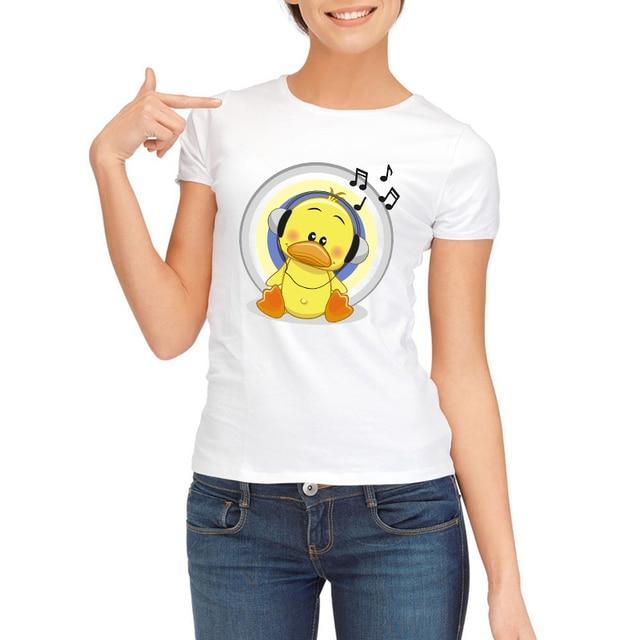 108be58ce 2019 Newest Summer Fashion A cute little duck Design T Shirt Women's Cool  Design High Quality Tops Custom Hipster Tees