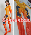 Coscustom High Quality Game OW Tracer Costume Bottoming Jumpsuit Lena Oxton Tracer Base Jumpsuit Cosplay Costume