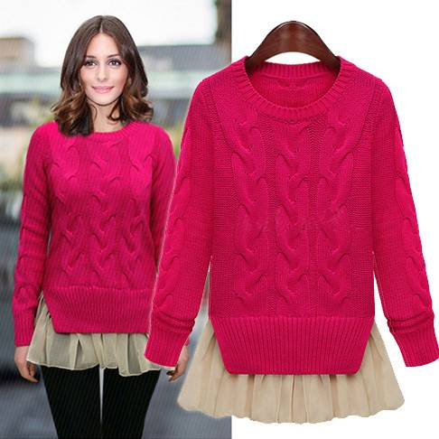 3d1bdbb3edc women sweater winter vintage pullover sweaters navy blue beige red sweater  D02-in Pullovers from Women s Clothing on Aliexpress.com