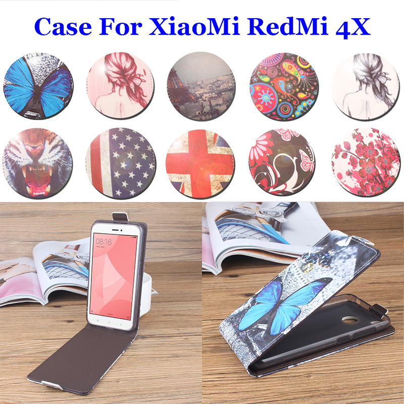5 0 Inch Up Down Painted Luxury For XiaoMi RadMi 4X Case PU Leather Cases Flip