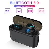 TWS Bluetooth 5,0 наушники беспроводной Bluetooth наушники громкой связи спортивные наушники игровая гарнитура телефон PK HBQ