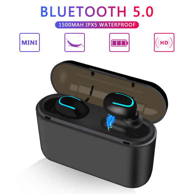 TWS Bluetooth 5.0 Earphones Wireless Blutooth Earphone Handsfree Sports Earbuds Gaming Headset Phone PK HBQ