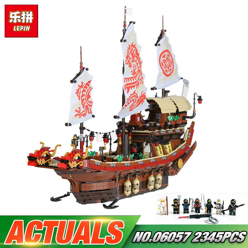 Lepin 06057 Ship Series 2345Pcs The Destiny`s Bounty LegoINGly Model Sets 70618 Uilding Nano Blocks DIY Bricks Toys For Boy lepin 42010 590pcs creative series brick box legoingly sets building nano blocks diy bricks educational toys for kids gift