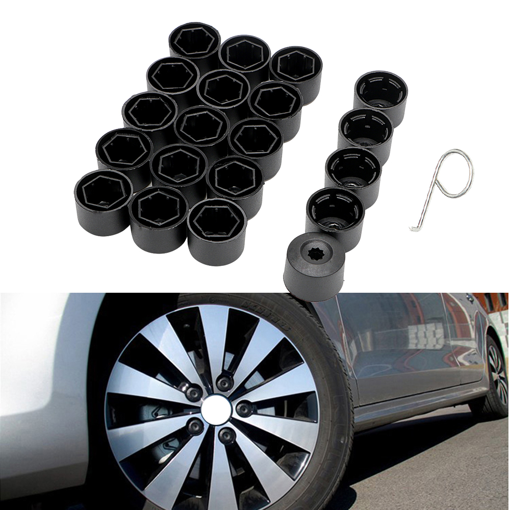 20Pcs 17mm <font><b>Car</b></font> <font><b>Wheel</b></font> <font><b>Nut</b></font> <font><b>Caps</b></font> Bolt Rims for Volkswagen Bora Sagitar Magotan Passat Special Socket Auto Hub Screw Cover image