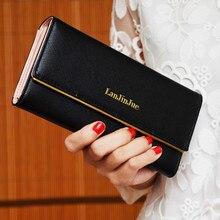 2017 vente CHAUDE De Mode Lady Femmes populaire Sac À Main Long Portefeuille Sacs PU Titulaire de la Carte femmes Portefeuilles embrayage Sacs À Main