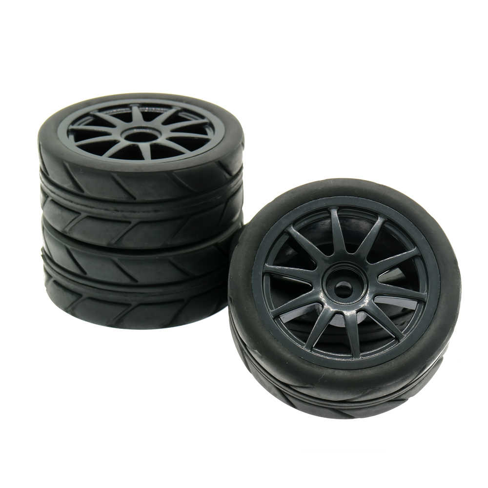 RCAWD Velg Band/tire Set 4 stks/set 10 Spoke 1:10 On Road 63mm Speelgoed Model Auto C20680 c20684 Tire Set Model Onderdelen