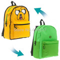 Adventure Time Jake Dog Reversible Backpack School Bag Cartoon Kids Children School Bags for Boys Schoolbag