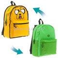 Adventure Time Jake Reversible Perro Mochila Bolsa de La Escuela de Dibujos Animados Los Niños Mochilas escolares para Niños Mochila