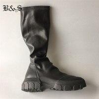 Черные и уличные мужские высокие ботинки martin из натуральной кожи, эксклюзивные ботинки ручной работы без шнуровки, зимние ботинки ручной ра