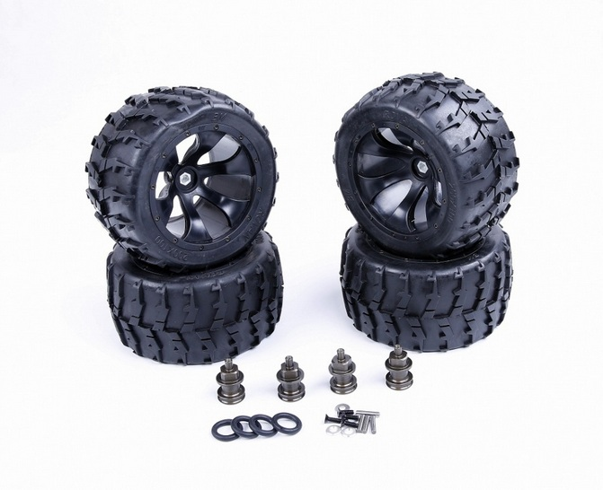 Modified Bigfoot tire assembly kit For 1/5 losi 5vie-T SLT BAJA 4WD rc car parts billet rear hub carriers for losi 5ive t