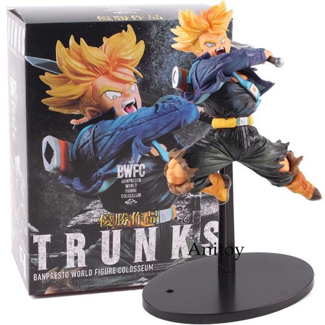 BWFC De Dragon Ball Z Super Saiyan Trunks Figura Dragonball Trunks PVC Action Figure Modelo Brinquedos