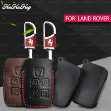 Leather Car Key Cover Case For Land Rover A9 Range Sport Evoque Freelander 2 Jaguar XE XJ XJL XF C-X16 V12 Guitar F X Typ