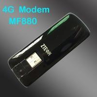 Débloqué ZTE mf880 + 4g usb modem usb 4G LTE Dongle 4G FDD 800/2600 TDD 2300/2600 usb modem pk MF831 mf821 mf823 e392 e398