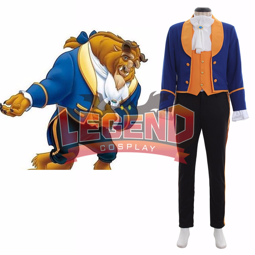 Beauty and the Beast Cosplay Beast Prince Adam Costume Suit Outfit Adult Men's Costume Cosplay custom made V03