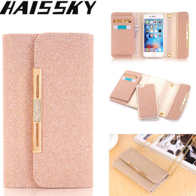 Leather Phone Case For iPhone 5 5S SE 6 6s Plus 7 8 Plus Bling Glitter Magnetic Cover Handbag Flip Wallet Case For iPhone 7 Plus