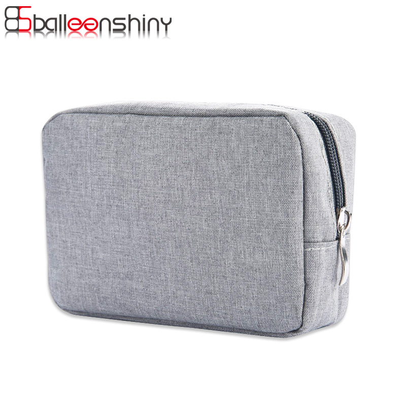 BalleenShiny Travel Digital Storage Bag Bærbar Digital USB Kabel Lader Øretelefon Kosmetisk Veske Oppbevaring Organizer Veske Case
