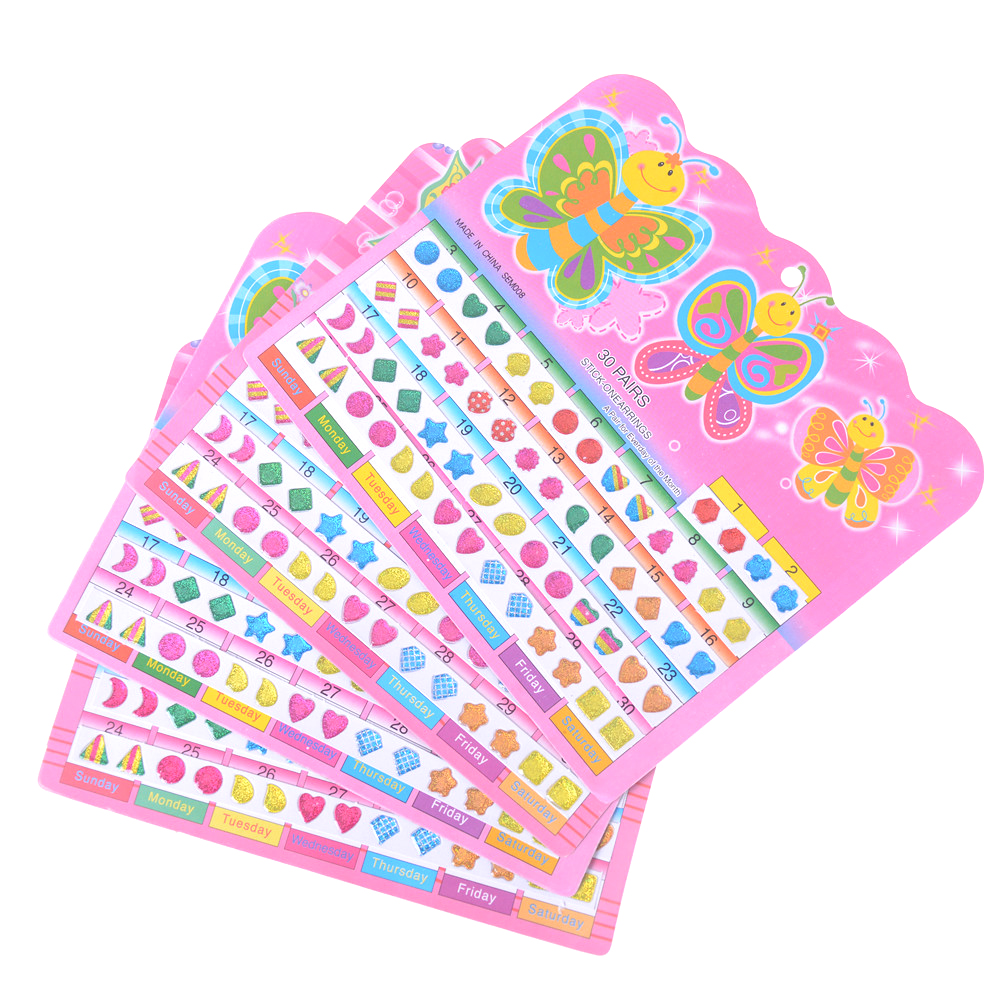 Stickers Head-Earring Children Cartoon Toys Reward Wonderful DIY 120pcs/2-Sheet